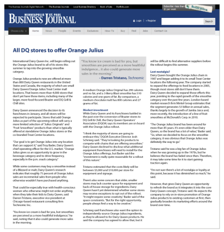 All DQ stores to offer Orange Julius